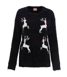 Womens Knitted Reindeer Jumper